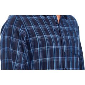 Icebreaker M's Compass Flannel LS Shirt midnight navy/sea blue/plaid